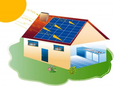 Solarni kolektori na kući (foto: FreeDigitalPhotos)