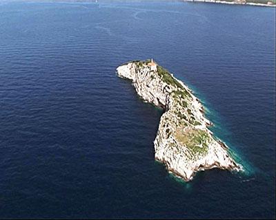 Otok Sv. Andrija iz zraka (foto: Miro Andrić)