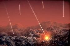 Uvjeti na Zemlji nakon njezina formiranja (Izvor: S dopuštenjem Dona Dixona / Cosmographica.com)