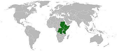 Karta rasprostranjenja (foto: Wikimedia)