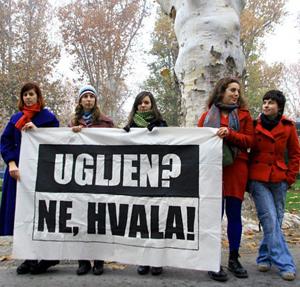 Aktivistice Zelene akcije protiv izgradnje termoelektrana na ugljen (foto: Marina Kelava)