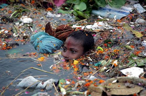 Zagađenje vode u Indiji (foto: Sveučilište Uppsala)