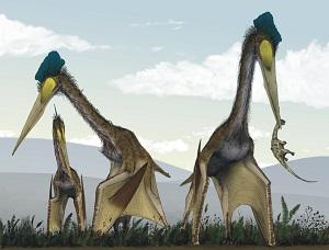 Quetzalcoatlus u lovu (Izvor: Wikimedia Commons)